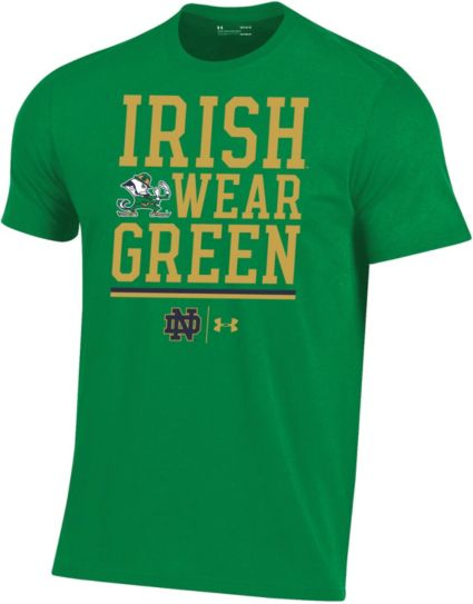 Under Armour Men s Notre Dame Fighting Irish Green Performance Football T- Shirt 8c0870974