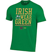 Under Armour Men's Notre Dame Fighting Irish Green Performance Football T-Shirt