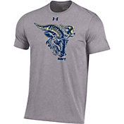 Under Armour Men's Navy Midshipmen Grey Charged Cotton Performance T-Shirt