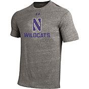 Under Armour Men's Northwestern Wildcats Grey Tri Blend Short Sleeve T-Shirt