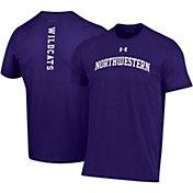 Under Armour Men's Northwestern Wildcats Purple Performance Cotton T-Shirt