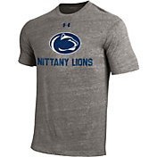 Under Armour Men's Penn State Nittany Lions Grey Tri Blend Short Sleeve T-Shirt