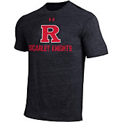 Under Armour Men's Rutgers Scarlet Knights Tri Blend Short Sleeve Black T-Shirt