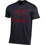 Under Armour Men's South Carolina Gamecocks Charged Cotton Performance Black T-Shirt
