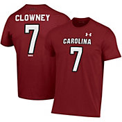 Under Armour Men's Jadeveon Clowney South Carolina Gamecocks #7 Garnet Performance Cotton Football T-Shirt