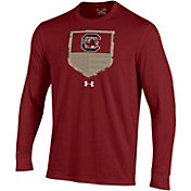Under Armour Men's South Carolina Gamecocks Garnet Military Appreciation Long Sleeve T-Shirt
