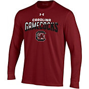 Under Armour Men's South Carolina Gamecocks Garnet Performance Cotton Long Sleeve T-Shirt