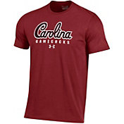 Under Armour Men's South Carolina Gamecocks Garnet Charged Cotton Performance T-Shirt