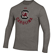 Under Armour Men's South Carolina Gamecocks Grey Tri-Blend Performance Long Sleeve T-Shirt
