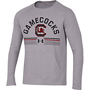Under Armour Men's South Carolina Gamecocks Grey Aviator Waffle Long Sleeve T-Shirt