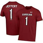 Under Armour Men's Alshon Jeffery South Carolina Gamecocks #1 Garnet Performance Cotton Football T-Shirt