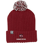 Under Armour Men's South Carolina Gamecocks Garnet Fundamental Pom Knit Beanie