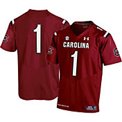 Under Armour Men's South Carolina Gamecocks #1 Garnet Replica Football Jersey