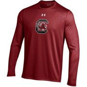 Under Armour Men's South Carolina Gamecocks Garnet Long Sleeve Tech Performance T-Shirt