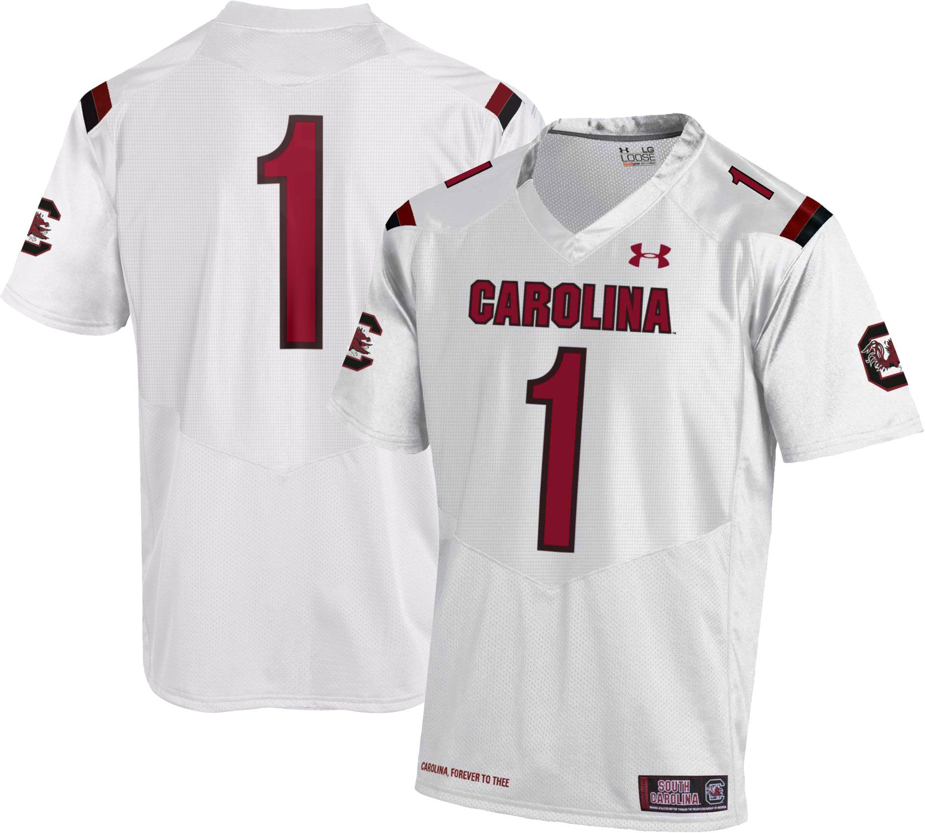 white jersey for football