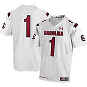 Under Armour Men's South Carolina Gamecocks #1 Replica Football White Jersey