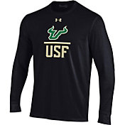 Under Armour Men's South Florida Bulls Performance Cotton Long Sleeve Black T-Shirt