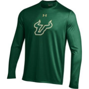 Under Armour Men's South Florida Bulls Green Long Sleeve Tech Performance T-Shirt