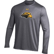 Under Armour Men's Southern Miss Golden Eagles Grey Long Sleeve Tech Performance T-Shirt