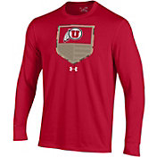 Under Armour Men's Utah Utes Crimson Military Appreciation Long Sleeve T-Shirt