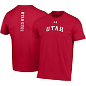 Under Armour Men's Utah Utes Crimson Performance Cotton T-Shirt