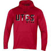 Under Armour Men's Utah Utes Crimson Fleece Pullover Hoodie