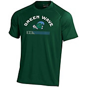 Under Armour Men's Tulane Green Wave Olive Tech Performance T-Shirt