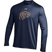 Under Armour Men's UTEP Miners Navy Long Sleeve Tech Performance T-Shirt