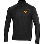 Under Armour Men's Iowa Hawkeyes Charged Cotton Quarter-Zip Black Shirt