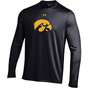 Under Armour Men's Iowa Hawkeyes Long Sleeve Tech Performance Black T-Shirt