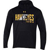 Under Armour Men's Iowa Hawkeyes Fleece Pullover Black Hoodie