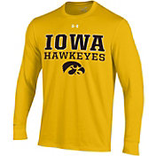 Under Armour Men's Iowa Hawkeyes Gold Charged Cotton Long Sleeve T-Shirt