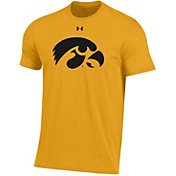 Under Armour Men's Iowa Hawkeyes Gold Performance Cotton T-Shirt