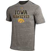 Under Armour Men's Iowa Hawkeyes Grey Tri Blend Short Sleeve T-Shirt
