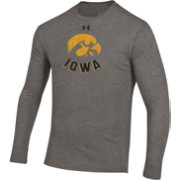 Under Armour Men's Iowa Hawkeyes Grey Tri-Blend Performance Long Sleeve T-Shirt