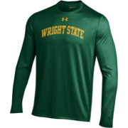 Under Armour Men's Wright State Raiders Green Long Sleeve Tech Performance T-Shirt