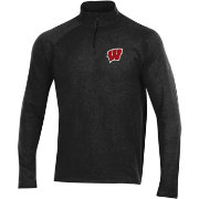 Under Armour Men's Wisconsin Badgers Charged Cotton Quarter-Zip Black Shirt