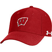 Under Armour Men's Wisconsin Badgers Red Blitzing Adjustable Hat