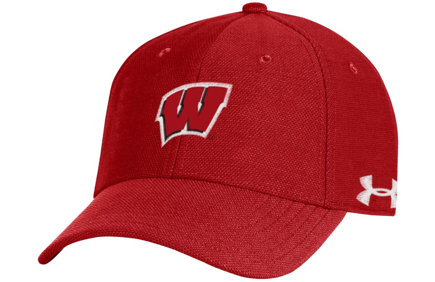 Under Armour Men's Wisconsin Badgers Red Blitzing Adjustable Hat
