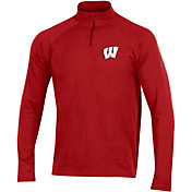 Under Armour Men's Wisconsin Badgers Red Charged Cotton Quarter-Zip Shirt