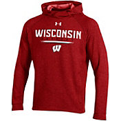 Under Armour Men's Wisconsin Badgers Red MK1 Popover Performance Hoodie