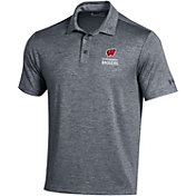 Under Armour Men's Wisconsin Badgers Red Playoff Performance Polo