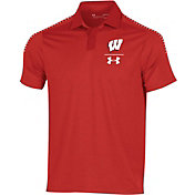 Under Armour Men's Wisconsin Badgers Red Pinnacle Performance Polo