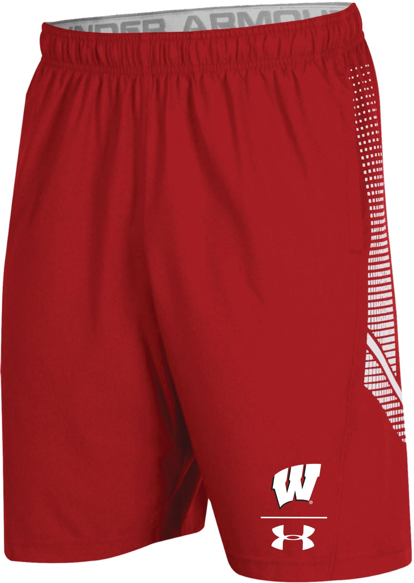Under Armour Men's Wisconsin Badgers Red Sideline Pinnacle Shorts