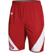 Under Armour Men's Wisconsin Badgers Red Replica Basketball Shorts