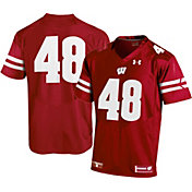 Under Armour Men's Wisconsin Badgers #48 Red Replica Football Jersey