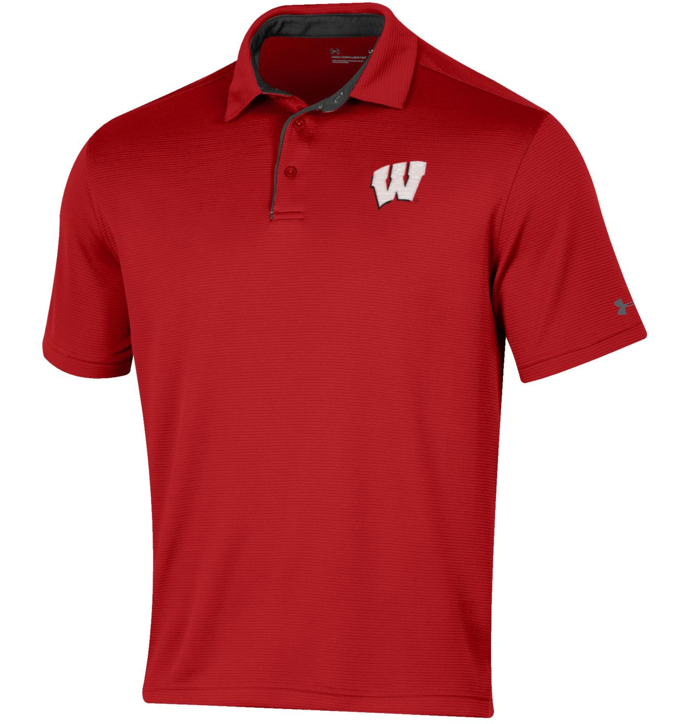 Under Armour Men's Wisconsin Badgers Red Tech Polo