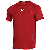 Under Armour Men's Wisconsin Badgers Red Training Performance T-Shirt