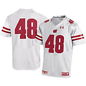 Under Armour Men's Wisconsin Badgers #48 Replica Football White Jersey