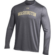 Under Armour Men's Washington Huskies Grey Long Sleeve Tech Performance T-Shirt